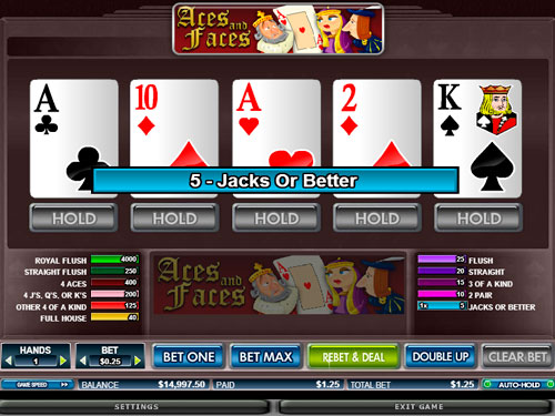 Video Poker - Aces & Faces
