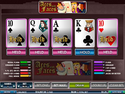 Video Poker - Aces & Faces