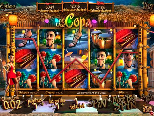 La machine à sous At the Copa - Betsoft Gaming.
