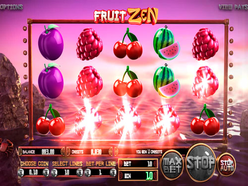La machine à sous Fruit Zen - Betsoft Gaming.