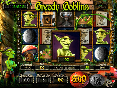 La machine à sous Greedy Goblins - Betsoft Gaming.