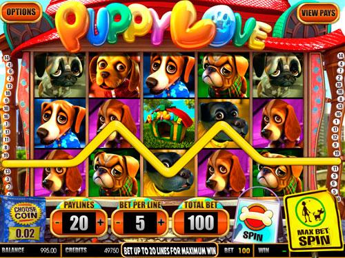 La machine à sous Puppy Love - Betsoft Gaming.