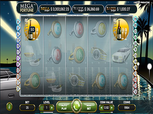 Mega Fortune par l'éditeur NetEnt